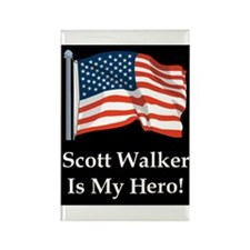 Scott Walker is my hero! Rectangle Magnet