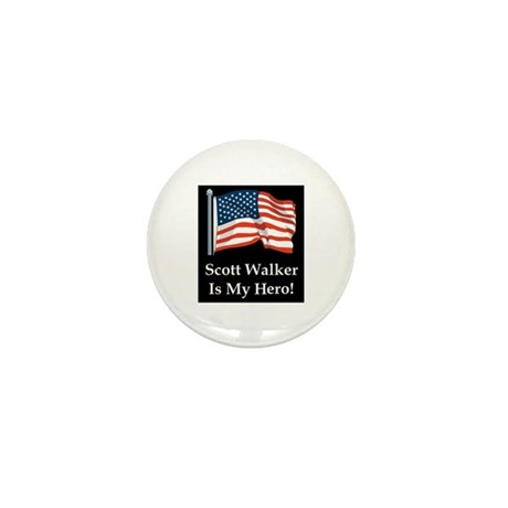 Scott Walker is my hero! Mini Button (100 pack)