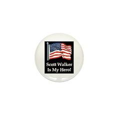 Scott Walker is my hero! Mini Button (10 pack)