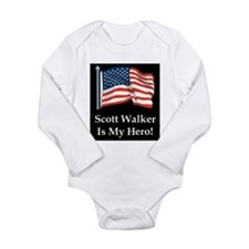 Scott Walker is my hero! Long Sleeve Infant Bodysu