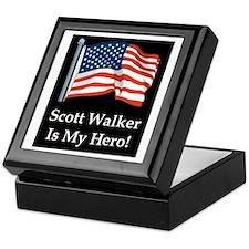 Scott Walker is my hero! Keepsake Box