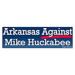Arkansas Against Huckabee Bumper Sticker