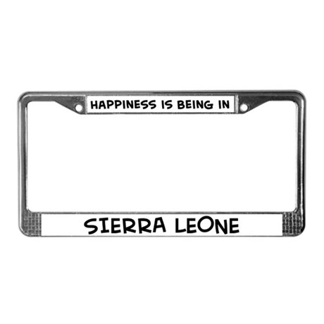 Happiness is Sierra Leone License Plate Frame