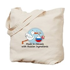 Stork Baby Russia Canada Tote Bag