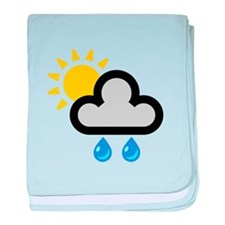 Rain Showers Symbol baby blanket