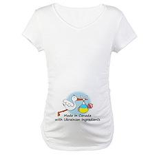 Stork Baby Ukraine Canada Shirt