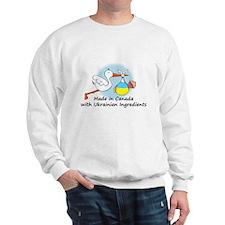 Stork Baby Ukraine Canada Sweater