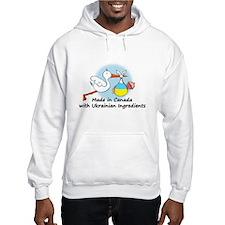 Stork Baby Ukraine Canada Hoodie Sweatshirt