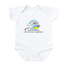 Stork Baby Ukraine Canada Onesie