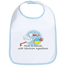 Stork Baby Ukraine Canada Bib