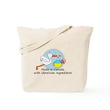 Stork Baby Ukraine Canada Tote Bag