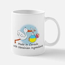 Stork Baby Ukraine Canada Mug