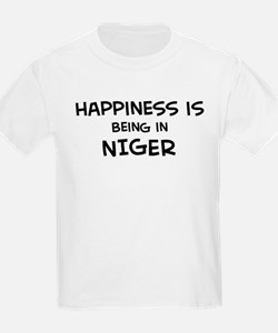 Happiness is Niger Kids T-Shirt