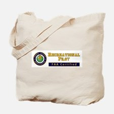 FAA Certified Recreational Pilot Tote Bag