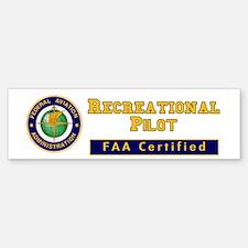 FAA Certified Recreational Pilot Bumper Bumper Sticker
