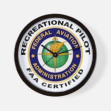 FAA Certified Recreational Pilot Wall Clock