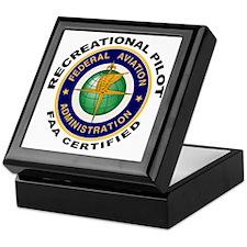 FAA Certified Recreational Pilot Keepsake Box