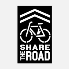 BLACK Sharrow Share the Road - Decal