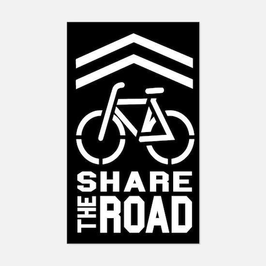 BLACK Sharrow Share the Road - Decal