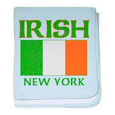 New York Irish Flag baby blanket