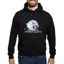 Stork Baby France Canada Hoodie