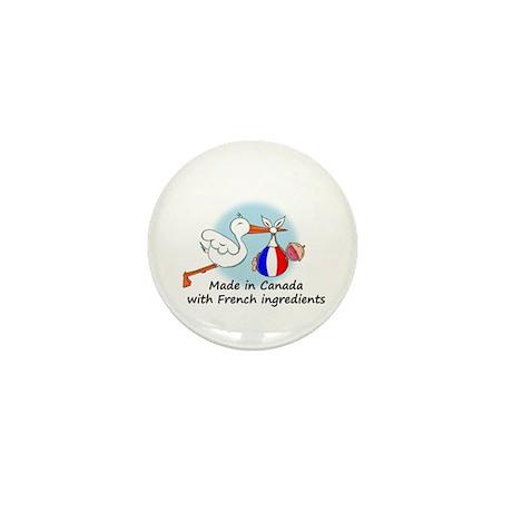 Stork Baby France Canada Mini Button