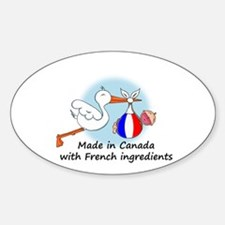 Stork Baby France Canada Decal