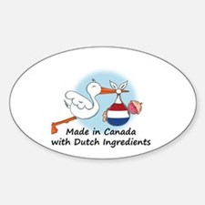 Stork Baby Netherlands Canada Decal