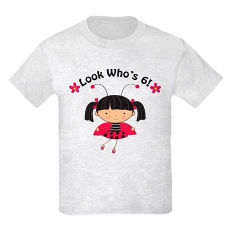 Ladybug 6th Birthday Kids Light T-Shirt
