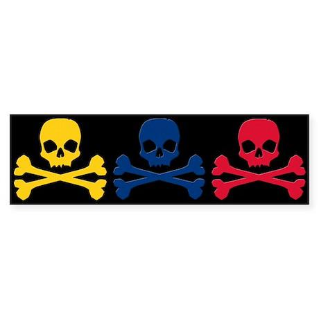 Colombian Skulls Sticker (Bumper)