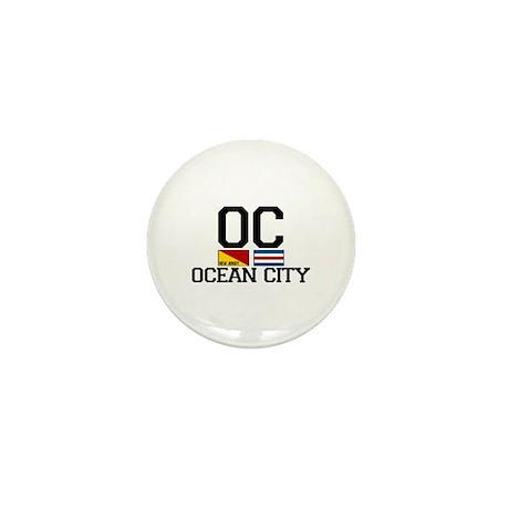 Ocean City NJ - Nautical Design Mini Button