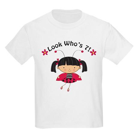 Ladybug 7th Birthday Kids Light T-Shirt