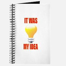 It was my idea Journal