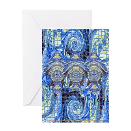 Visitors On A Starry Night Greeting Card
