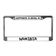 Happiness is Namibia License Plate Frame