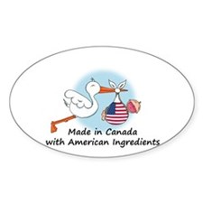 Stork Baby USA Canada Decal