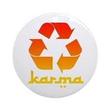 Recycle KARMA Ornament (Round)