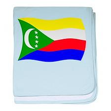 Comoros Flag 2 baby blanket