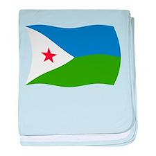Djibouti Flag 2 baby blanket