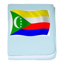Comoros Flag baby blanket