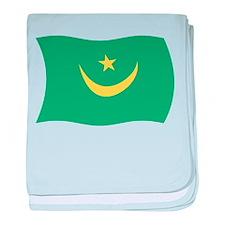 Mauritania Flag 2 baby blanket