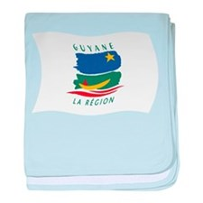 French Guiana Flag 2 baby blanket