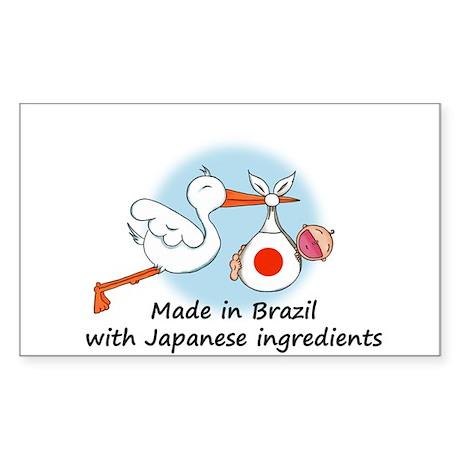 Stork Baby Japan Brazil Sticker (Rectangle)