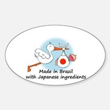 Stork Baby Japan Brazil Decal