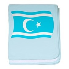 Iraqi Turkmen Flag baby blanket