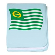 Ecology Movement Flag baby blanket
