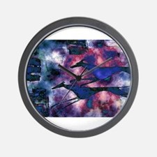 Blue Runners Wall Clock
