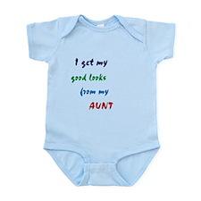 good looks from my aunt Infant Bodysuit