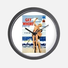 Gay Whore Wall Clock