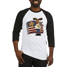 Patriotic Moose Baseball Jersey